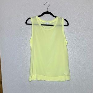 REISS silk front blouse sleeveless